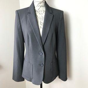 Anne Klein Two Button Gray Blazer Jacket